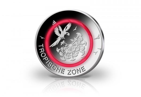 Münzrolle 5 Euro 2017 Deutschland Tropische Zone mit rotem Polymerring st Prägestätte G