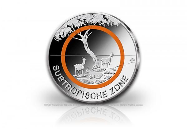 5 Euro 2018 Deutschland Subtropische Zone mit orangem Polymerring st