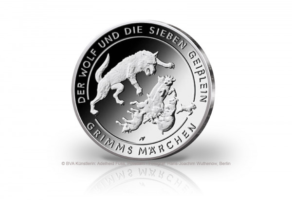 20 Euro Silbermünze 2020 Deutschland Der Wolf und die sieben Geißlein st