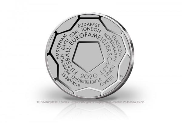 20 Euro Silbermünze 2020 Deutschland Fußball Europameisterschaft st