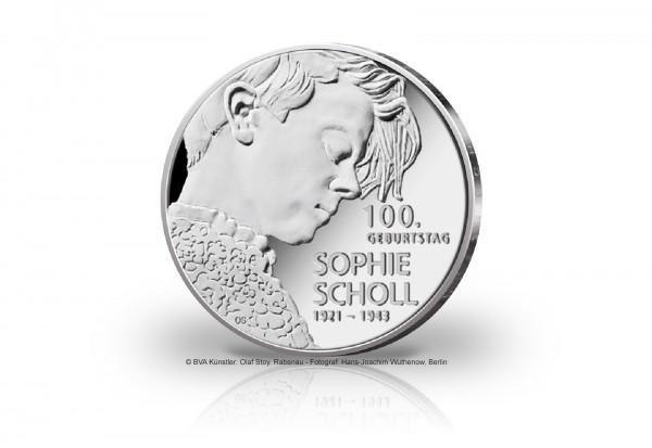 20 Euro Silbermünze 2021 Deutschland 100. Geburtstag Sophie Scholl st