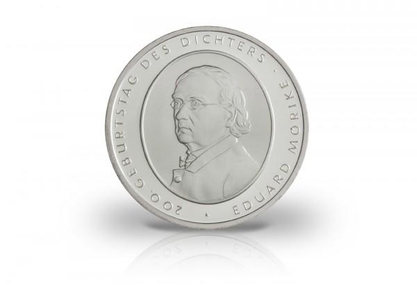 10 Euro Silbermünze 2004 Deutschland Eduard Mörike PP