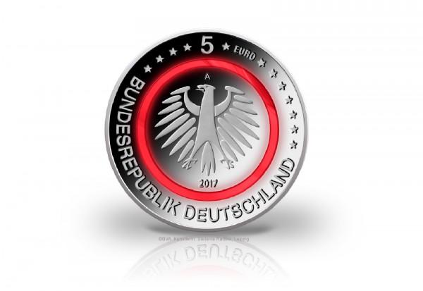 5 Euro 2017 Deutschland Tropische Zone mit rotem Polymerring PP Prägestätte A