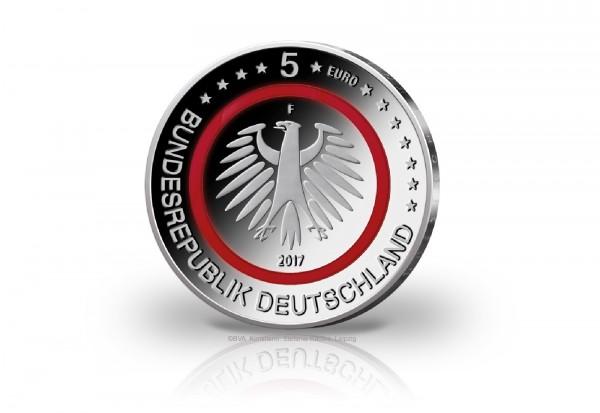 5 Euro 2017 Deutschland Tropische Zone mit rotem Polymerring PP Prägestätte F