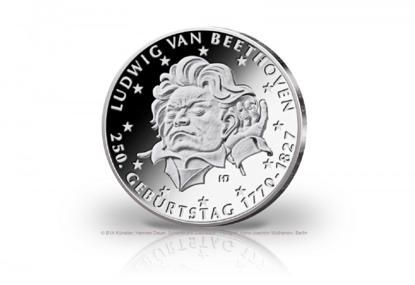 20 Euro Silbermünze 2020 Deutschland 250. Geburtstag Ludwig van Beethoven PP