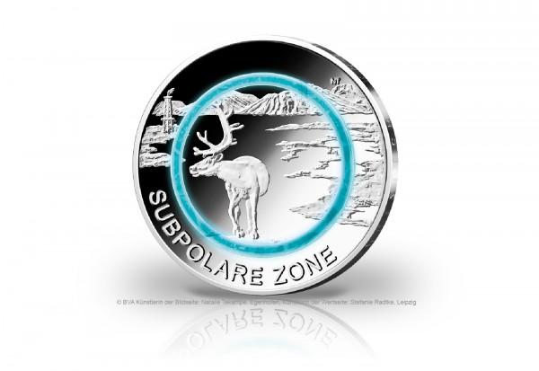 5 Euro 2020 Deutschland Subpolare Zone mit Polymerring PP Prägestätte unserer Wahl