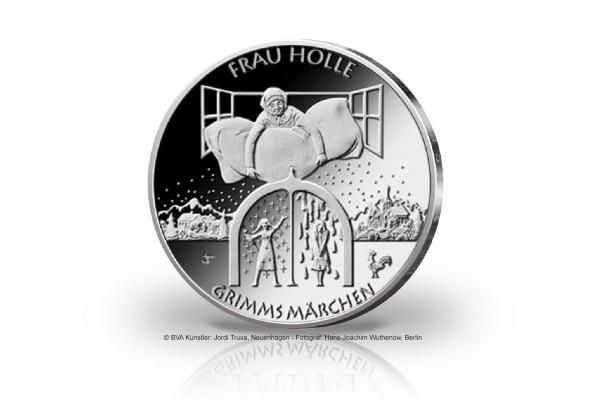 20 Euro Silbermünze 2021 Deutschland Frau Holle PP