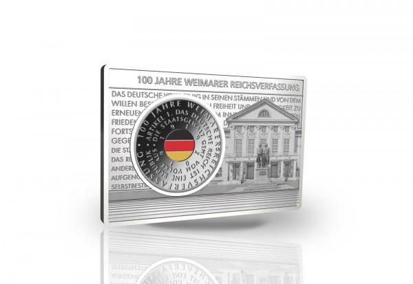 20 Euro 2019 Deutschland 100 Jahre Weimarer Reichsverfassung eingefasst in einem Barren