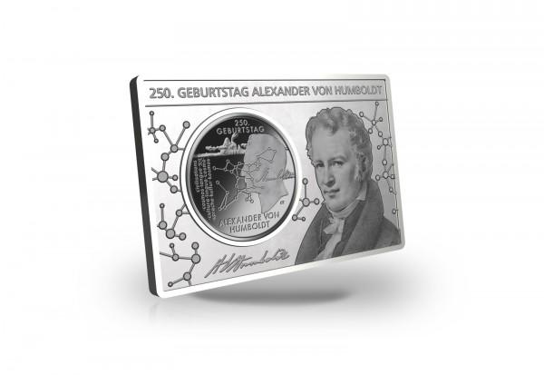 20 Euro 2020 Deutschland 250. Geburtstag Alexander von Humboldt eingefasst in einem Barren