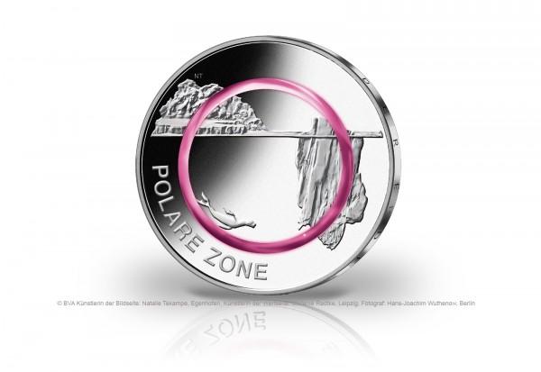 5 Euro 2021 Deutschland Polare Zone mit Polymerring st Prägestätte unserer Wahl