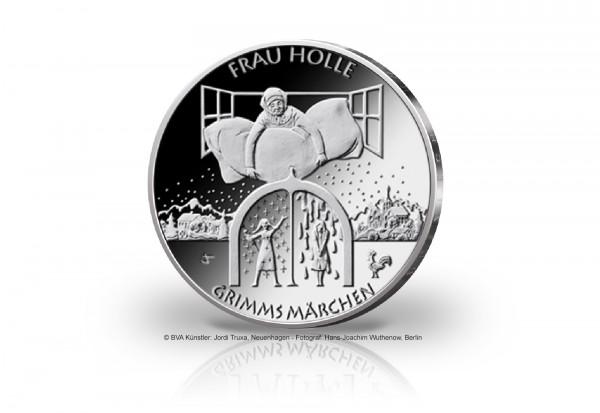 20 Euro Silbermünze 2021 Deutschland Frau Holle st