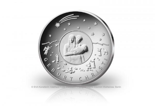 25 Euro Silbermünze 2021 Deutschland Weihnachten Geburt Christi st