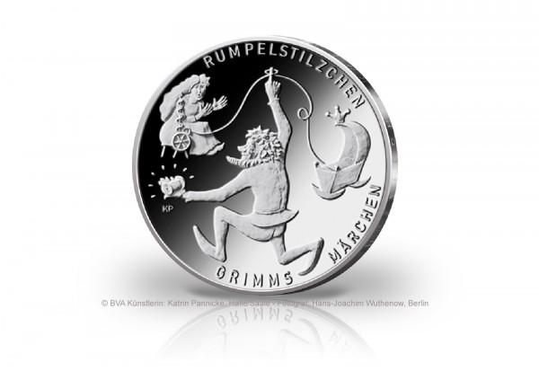 20 Euro Silbermünze 2022 Deutschland Rumpelstilzchen st