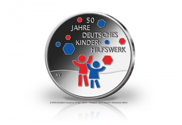 20 Euro Silbermünze 2022 Deutschland 50 Jahre Deutsches Kinderhilfswerk st