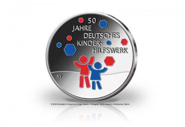 20 Euro Silbermünze 2022 Deutschland 50 Jahre Deutsches Kinderhilfswerk PP
