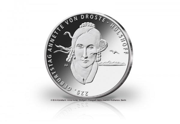 20 Euro Silbermünze 2022 Deutschland 225. Geburtstag Annette von Droste-Hülshoff st