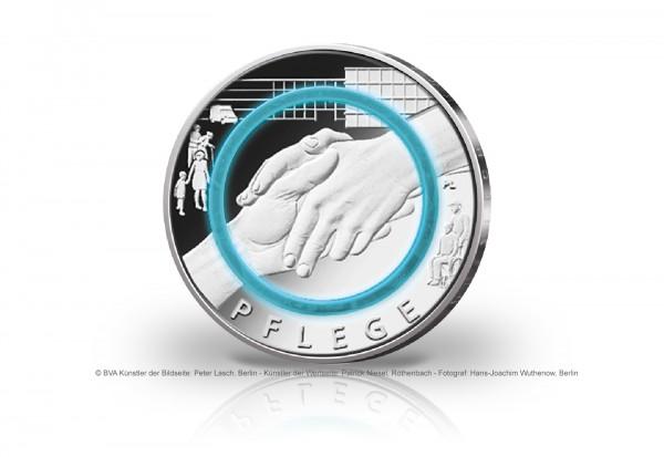 10 Euro 2022 Deutschland Pflege mit Polymerring st Prägestätte unserer Wahl