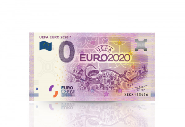 0 Euro Banknote UEFA EURO 2020TM offizielles Emblem