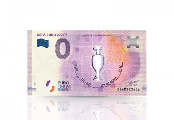 0 Euro Banknote UEFA EURO 2020TM offizielle Trophäe