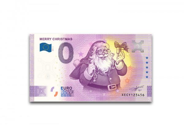 0 Euro Banknote Weihnachten