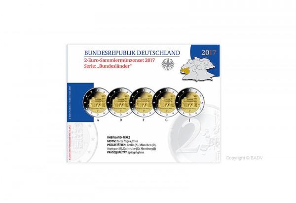 2 Euro 2017 Deutschland Rheinland-Pfalz Porta Nigra Prägestätte A-J PP im Blister