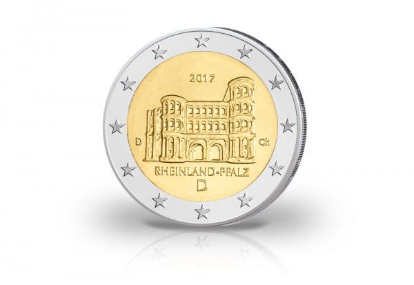 2 Euro 2017 Deutschland Rheinland-Pfalz Porta Nigra PP Prägestätte D
