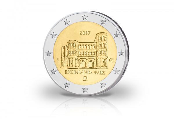 2 Euro 2017 Deutschland Rheinland-Pfalz Porta Nigra PP Prägestätte J