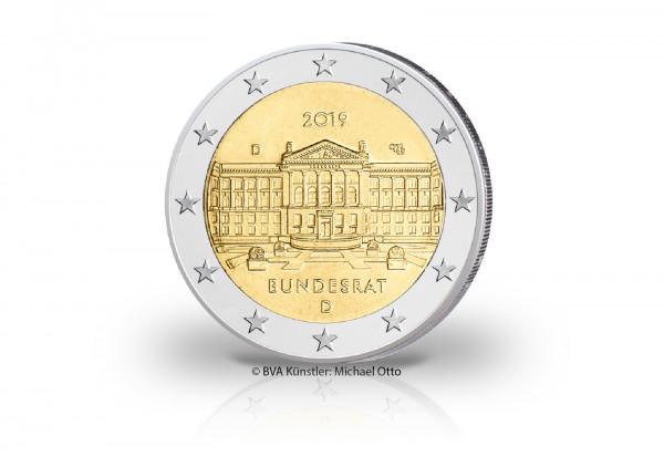 2 Euro 2019 Deutschland 70 Jahre Bundesrat Prägestätte D