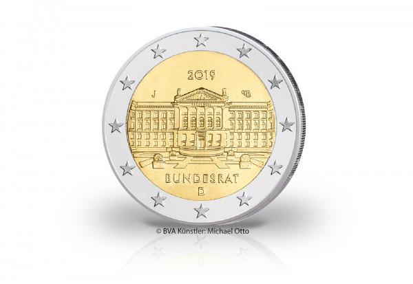 2 Euro 2019 Deutschland 70 Jahre Bundesrat Prägestätte J