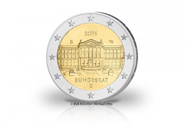 2 Euro 2019 Deutschland 70 Jahre Bundesrat Prägestätte unserer Wahl