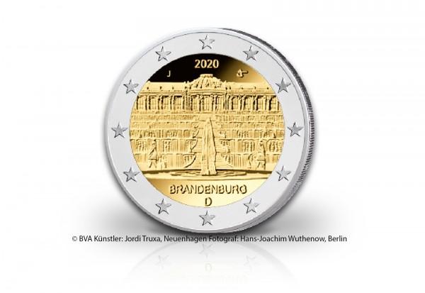 2 Euro 2020 Deutschland Brandenburg Schloss Sanssouci Prägestätte unserer Wahl