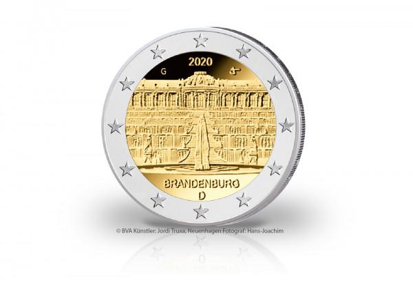 2 Euro 2020 Deutschland Brandenburg Schloss Sanssouci Prägestätte G
