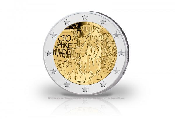 2 Euro 2019 Deutschland 30 Jahre Mauerfall Prägestätte D