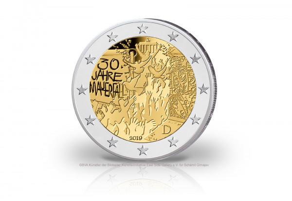 2 Euro 2019 Deutschland 30 Jahre Mauerfall Prägestätte J