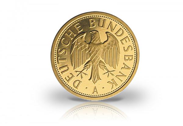 1 DM 2001 BRD Goldmünze st Prägestätte A im Etui