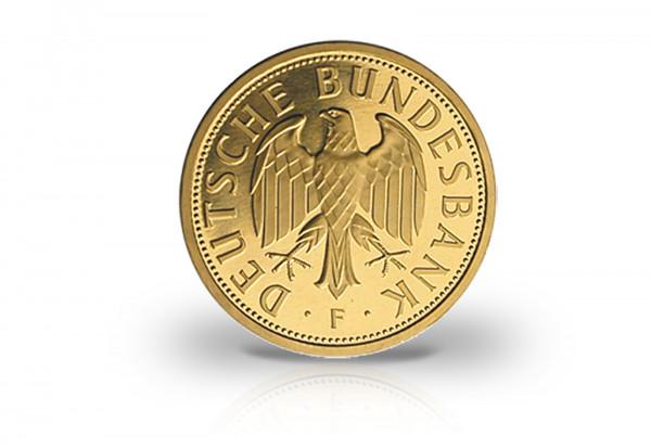 BRD 1 DM Goldmünze 2001 Prägestätte F