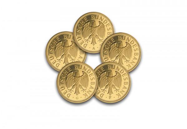 BRD Goldmark 2001 st Prägestätte A-J