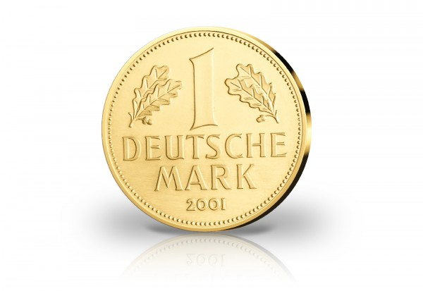 Goldausgabe 1/10 oz Neuprägung 1 Mark 2001