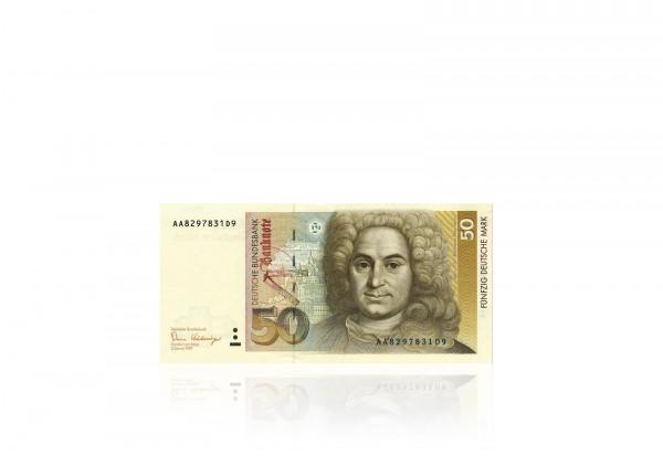 BRD 50 DM Banknote 1996 Baltasar Neumann