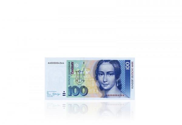 BRD 100 DM Banknote 1991 Clara Schuhmann