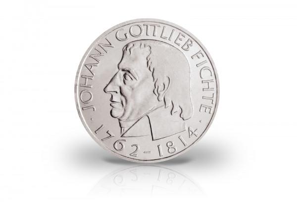 5 DM Silbermünze 1964 BRD Johann Gottlieb Fichte PP Jaeger-Nr. 393