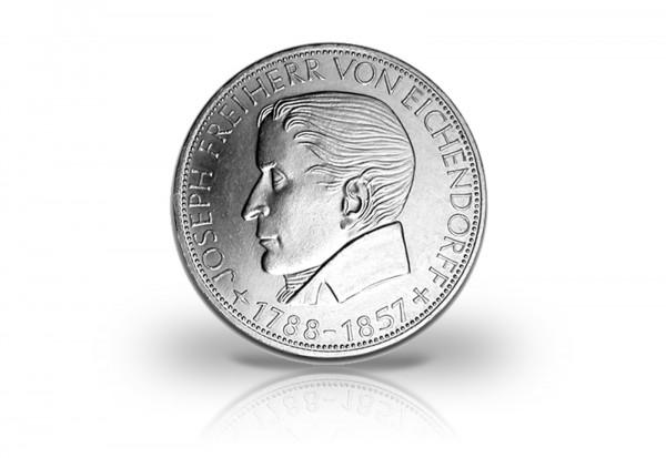 5 DM Silbermünze 1957 BRD Joseph Freiherr von Eichendorff PP Jaeger-Nr. 391