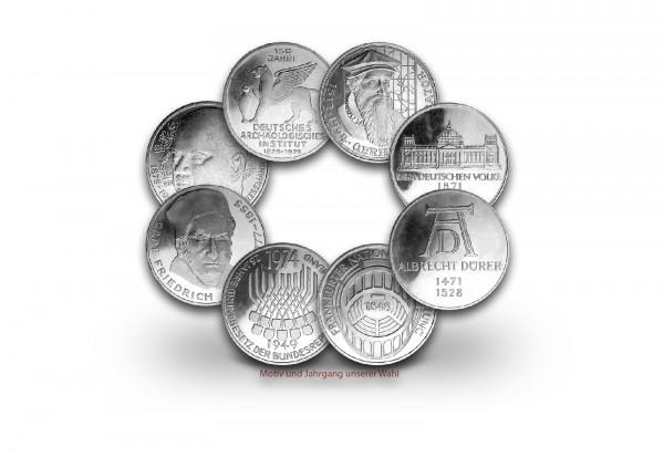5 DM Silbermünze 1966-1986 BRD Motiv und Jahrgang unserer Wahl vz