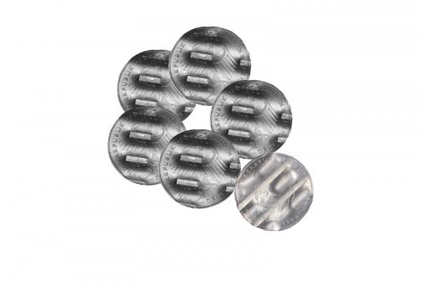 Schreddergeld 5x 2 DM Münzen