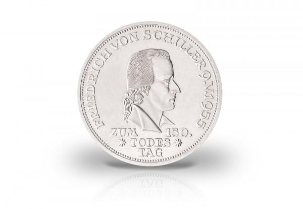 5 DM Silbermünze 1955 BRD 150. Todestag Friedrich von Schiller Jaeger-Nr. 389