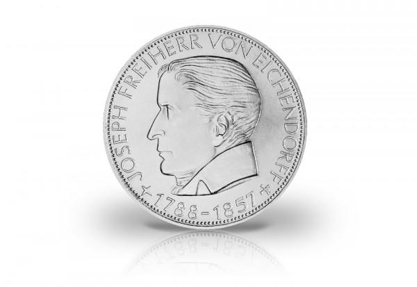 5 DM Silbermünze 1957 BRD Freiherr von Eichendorff Jaeger-Nr. 391