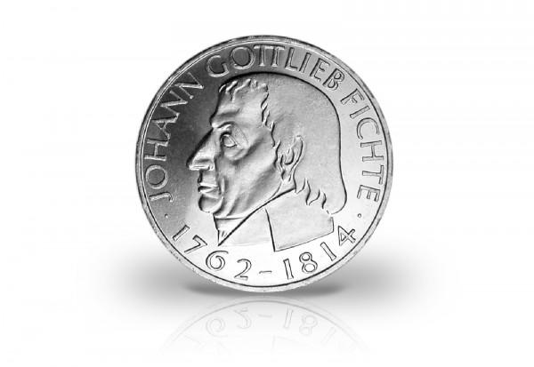 5 DM Silbermünze 1964 BRD Johann Gottlieb Fichte Jaeger-Nr. 393