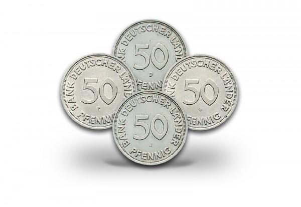 50 Pfennig 1949 BRD Bank deutscher Länder Prägestätte D-J Jaeger-Nr. 379