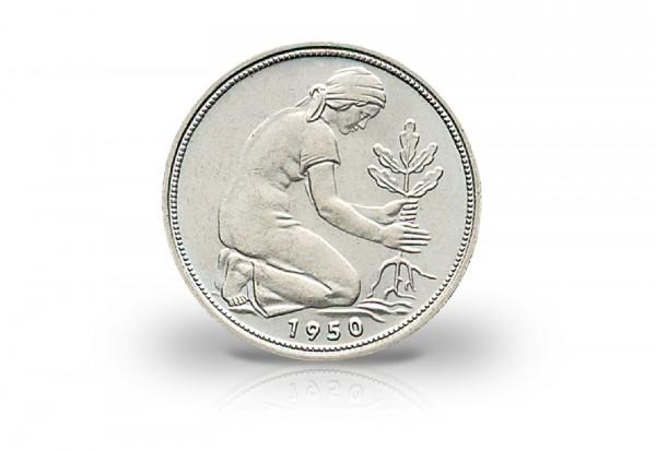 50 Pfennig 1950 BRD Bank Deutscher Länder Prägestätte G Jaeger-Nr. 379