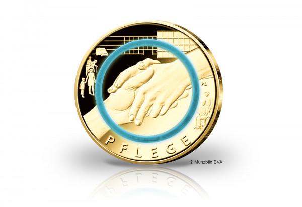 10 Euro 2022 Deutschland Pflege mit 24 Karat Goldauflage